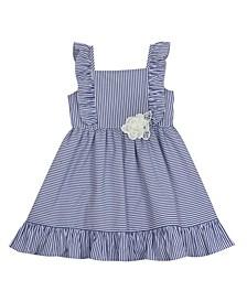 Toddler Girls Stripe Poplin Dress