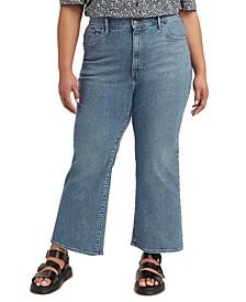 Plus Size Flare-Leg Jeans