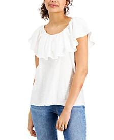 Ruffle-Neck Top, Created for Macy's