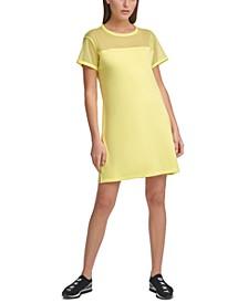 Sport Mesh-Blocked T-Shirt Dress