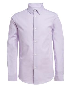 Calvin Klein Shirts BIG BOYS STRETCH BASKET STRIPE SHIRT