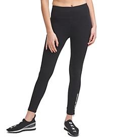 Sport Logo Ankle-Zip High-Waist Leggings