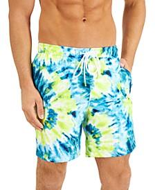 Men's Regular-Fit UPF 50+ Sunburst Tie-Dyed Board Shorts