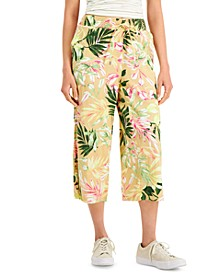 Floral-Print Cropped Pants, Created for Macy's