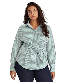 Plus Size Puffed Sleeve Top