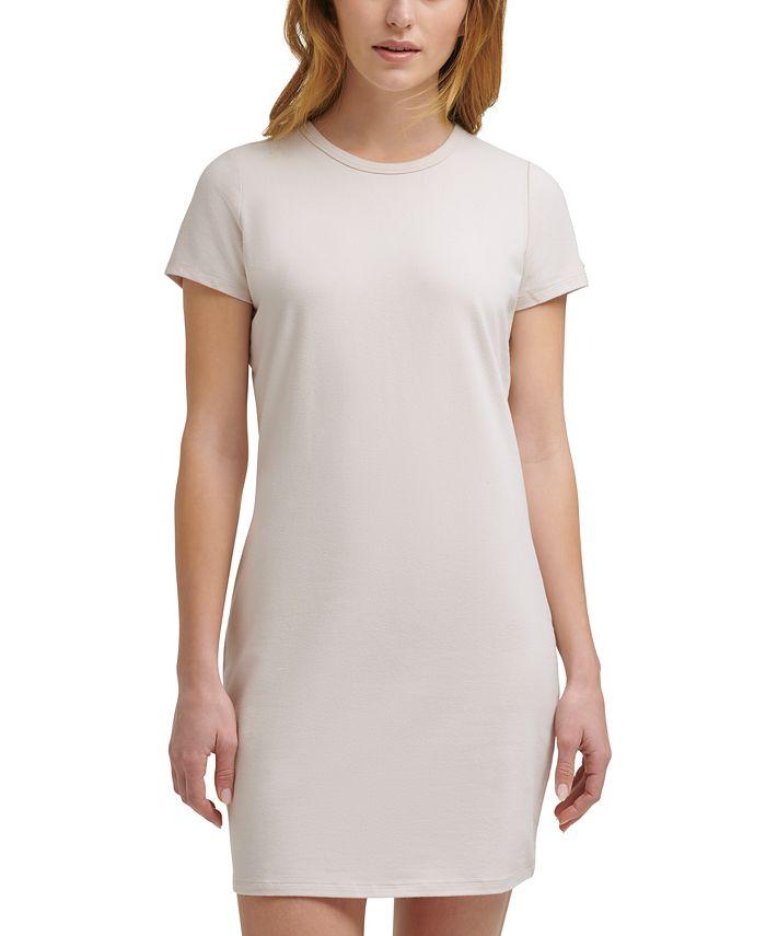 CKJ Crewneck Mini T-Shirt Dress