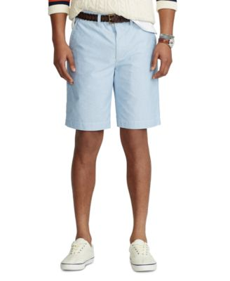 폴로 랄프로렌 Polo Ralph Lauren Mens Relaxed Fit Oxford Shorts,Blue Oxford