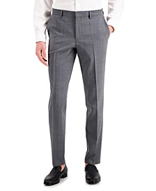 Men's Medium Gray Slim-Fit Wool Suit Separate Pants