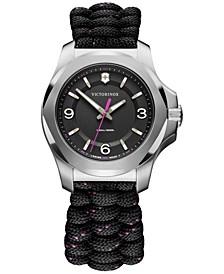 Women's I.N.O.X. V Black Paracord Strap Watch 37mm