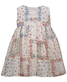 Baby Girls Button Patchwork Dress