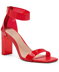 Women's Makenna Two-Piece Clear Vinyl Dress Sandals, Created for Macy's