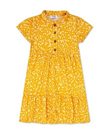 Big Girls Floral Button Front Dress