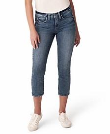 Suki Curvy-Fit Cropped Jeans