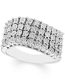 Diamond Illusion Wave Ring (1/3 ct. t.w.) in 10k White Gold