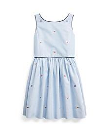 Toddler Girls Flag Oxford Dress