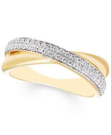 Diamond Crossover Ring (1/3 ct. t.w.) in 10k Gold