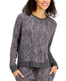 Ultra-Soft Crew Neck Pajama Top, Created for Macy's