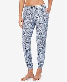 Cropped Knit Jogger Pajama Pants