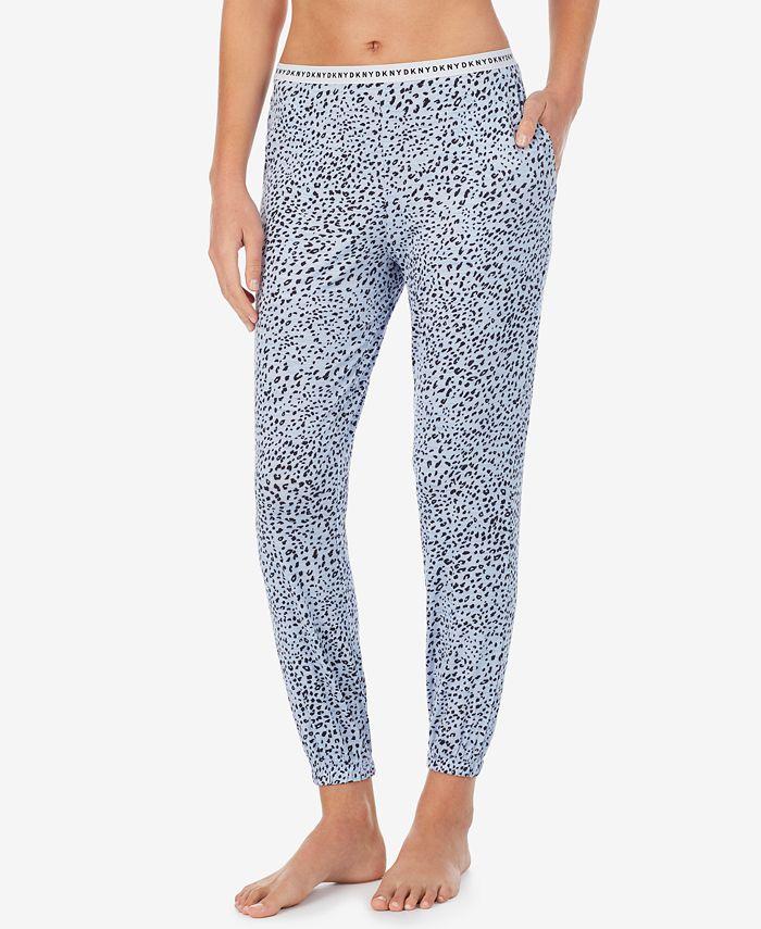 DKNY - Cropped Knit Jogger Pajama Pants