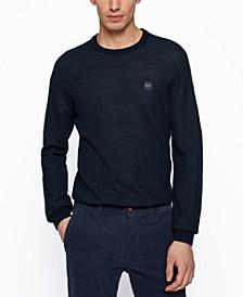 BOSS Men's Logo-Patch Regular-Fit Sweater