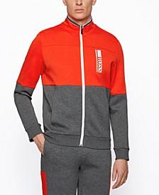 BOSS Men's Color-Block Embroidery Sweatshirt