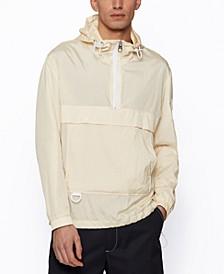 BOSS Men's Crinkle-Fabric Regular-Fit Anorak