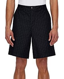 Men's Allover Micro-Logo Denim Shorts