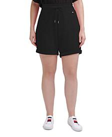 Plus Size Cuffed Shorts