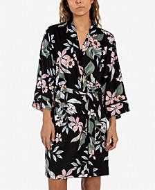 Vivienne Floral-Print Wrap Robe