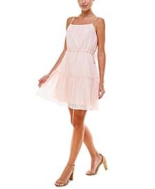 Metallic A-Line Mini Dress