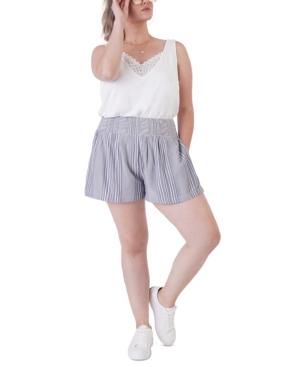 Plus Size Reversible Crochet Trim Tank Top