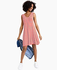 Printed Cross-Back Flip-Flop Dress, Created for Macy's