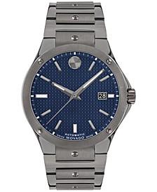 Men's Swiss Automatic Sports Edition Gray PVD Bracelet Watch 41mm