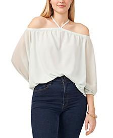 Plus Size Cold-Shoulder Top