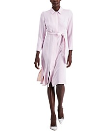 Slit-Hem Belted Shirtdress, Created for Macy's