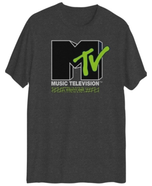 Men's Mtv Logo Graphic Short Sleeves T-shirt