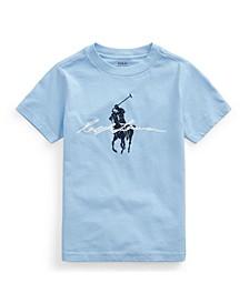 Little Boys Big Pony Logo Cotton Jersey Tee