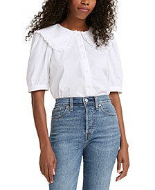 Olympia Cotton Collared Blouse