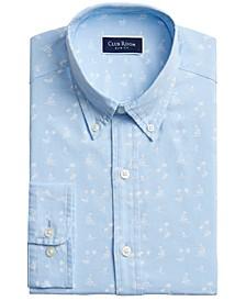 Men's Slim-Fit Island Surf-Print Dress Shirt, Created for Macy's