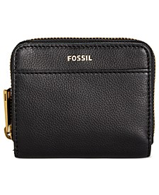 Evelyn Zip Bifold Leather Wallet