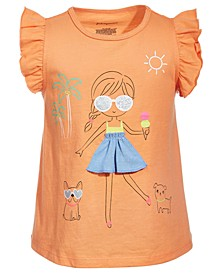 Toddler Girls Graphic Cotton Top, Created for Macy's