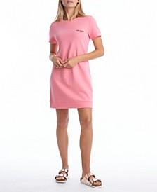 Short Sleeve Tee Fleece Dress