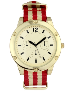 INC INTERNATIONAL CONCEPTS INC MEN'S STRIPED NYLON STRAP WATCH 48MM, CREATED FOR MACY'S