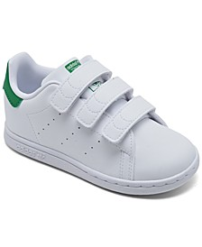Kids Toddler Stan Smith Primegreen Stay-Put Closure Casual Sneakers from Finish Line