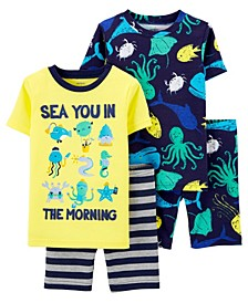 Baby Boys Sea Cotton Pajamas, 4 Pieces
