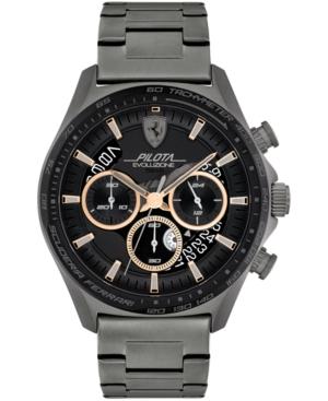 Men's Chronograph Pilota Evo Gray-Tone Stainless Steel Bracelet Watch 44mm