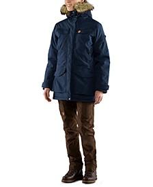 Nuuk Faux-Fur-Trim Hooded Parka Coat