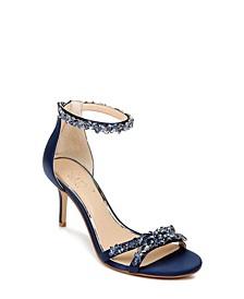 Caroline Embellished Ankle-Strap Evening Sandals