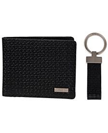 Men's RFID Slimfold Wallet & Key Fob Set