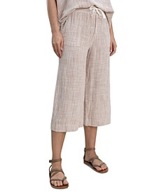 Pueblo Striped Cropped Pants